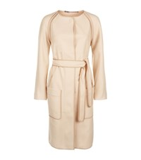 Escada Sport Exposed Seam Belted Coat Female Beige
