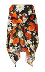 Alexis Mabille Floral Square Skirt Black