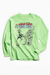Urban Outfitters Kostas Seremetis X Marvel Iron Man Long Sleeve Tee Mint