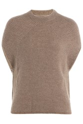 Rick Owens Cashmere Wool Blend Pullover Brown