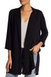 Bobeau Notch Lapel Woven Jacket Black