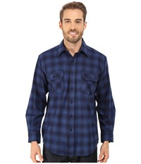 Pendleton L S Field Shirt Blue Shadow Men's Long Sleeve Button Up