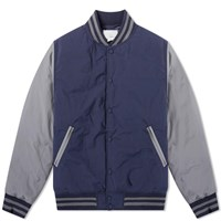 Nanamica Down Varsity Jacket Blue