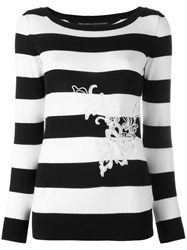 Ermanno Scervino Striped Jumper Black