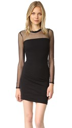 Pam And Gela Long Sleeve Mesh Dress Black