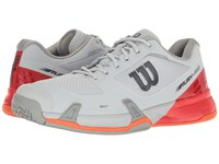 Wilson Rush Pro 2.5 Pearl Blue Fiery Red Flame Men's Tennis Shoes Gray