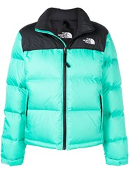 The North Face Logo Puffer Jacket Green