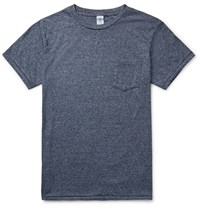 Velva Sheen Slim Fit Slub Cotton Blend Jersey T Shirt Blue