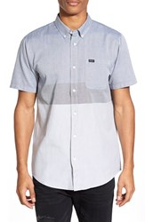 Men's Rvca 'That'll Do' Short Sleeve Colorblock Oxford Woven Shirt Pirate Black