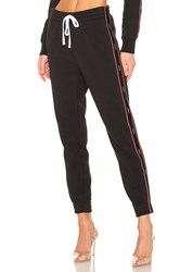 Kendall Kylie Drawstring Fleece Pant Black