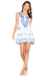 Juliet Dunn Shift Beach Dress White