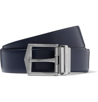 Burberry 3.5Cm Navy Leather Belt Blue