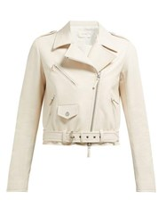 The Row Perlin Leather Jacket Ivory