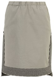 Cream Lis Aline Skirt Khaki