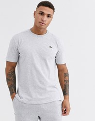 Lacoste Sport Logo T Shirt In Grey Marl
