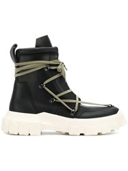 Rick Owens Hike Lace Up Boots Black