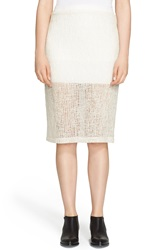 Alexander Wang Crinkle Knit Double Layer Skirt Ivory