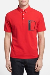 Ag Jeans Green Label 'The Cup' Short Sleeve Polo Red