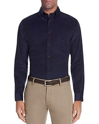 Brooks Brothers Corduroy Slim Fit Button Down Shirt Navy