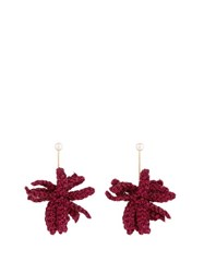 Lucy Folk Spritz Crochet Flower And Pearl Earrings Pink