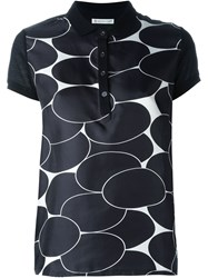 Moncler Patterned Polo Shirt Black