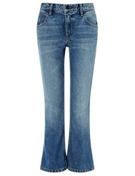 Alexander Wang Light Blue Cropped Trap Jeans