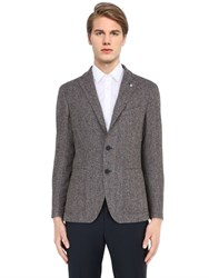 Tagliatore Wool And Silk Blend Herringbone Jacket