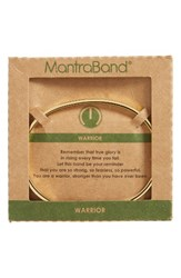 Mantraband Women's Warrior Engraved Cuff Gold