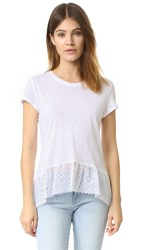 Generation Love Poppy Eyelet Tee White