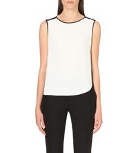 Sandro Sleeveless Crepe Top Ecru