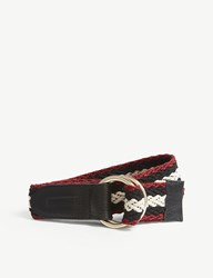Claudie Pierlot Woven Striped Belt Black
