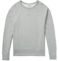 Acne Studios College Loopback Cotton Jersey Sweatshirt Gray
