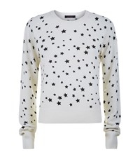 Kate Moss For Equipment Ryder Star Print Cashmere Sweater Female Ivory