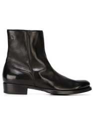 Buttero Side Zip Ankle Boots Black