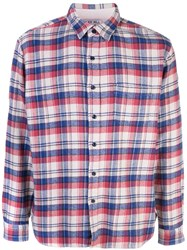 Alex Mill Plain Flannel Shirt Blue