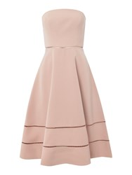 Keepsake Strapless Fit And Flare Dress Rose