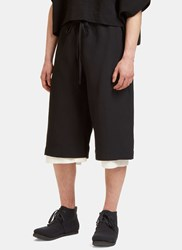 Marvielab Long Length Shorts Black