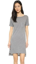Alexander Wang T By Classic Boat Neck Dress With Pocket Heather Grey