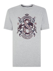 Canterbury Of New Zealand Flag Tee Grey