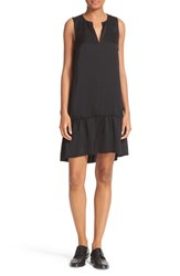 Atm Anthony Thomas Melillo Women's Satin Ruffle Hem Dress