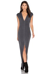 Nytt Mavi Front Slit Maxi Dress Gray
