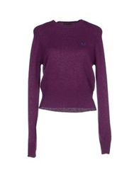 Fred Perry Sweaters Purple