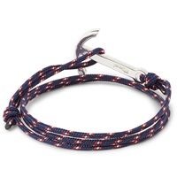 Miansai Rope And Silver Plated Anchor Bracelet Blue
