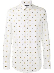 Dolce And Gabbana Bee Print Shirt White