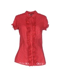 Guess Shirts Shirts Women Red