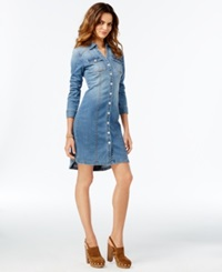 Inc International Concepts Denim Button Down Shirt Dress Only At Macy's