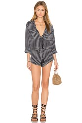 Indah Ironwood Printed Romper Black