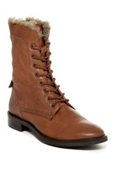 Seychelles Geode Faux Fur Lined Lace Up Boot Brown