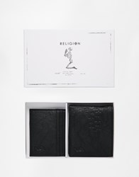 Religion Wallet And Card Holder Gift Set Black