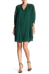 Alexia Admor Crochet Inset Dress Green